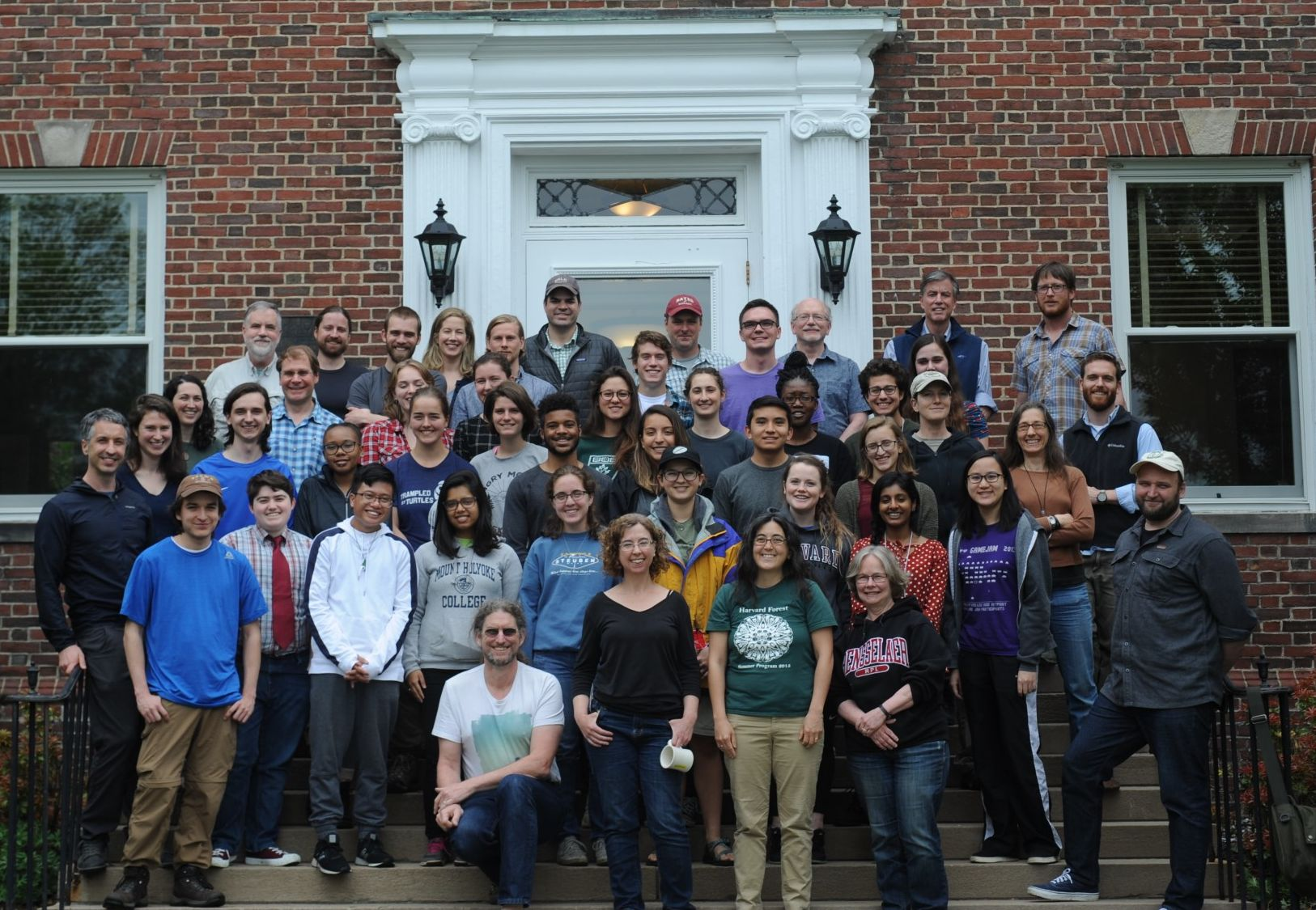 A photo of the students and mentors at an NSF REU site